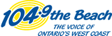 104.9 The Beach Logo