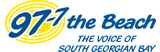 97.7 The Beach Logo